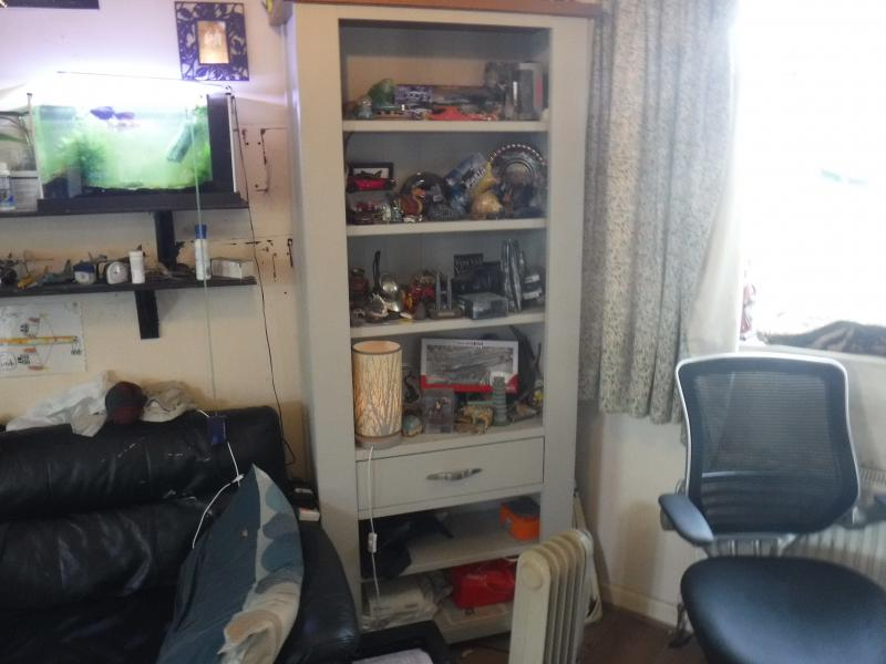 Asif H dispLay cabinet M S Man Lounge awaiting shrunKen voteLs head PicKLed
