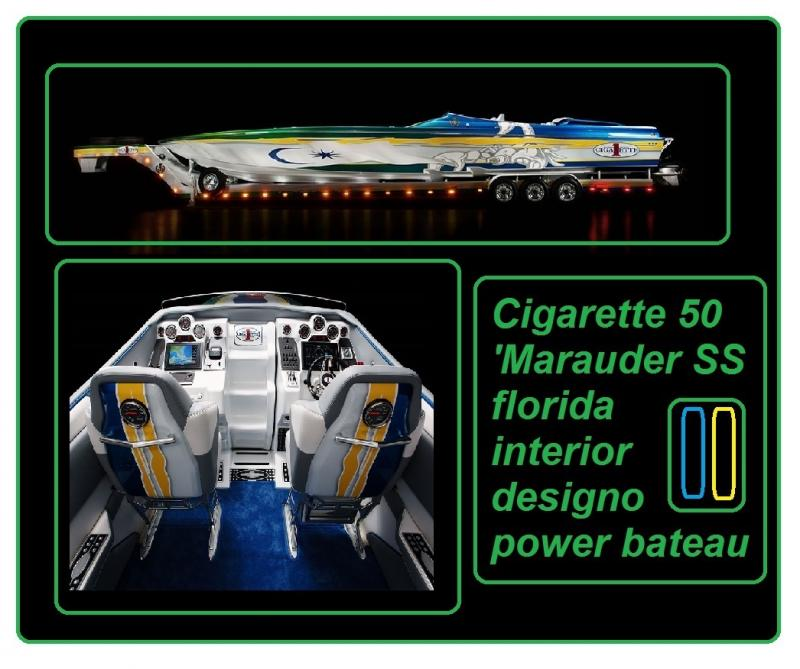 Cigarette 50 Marauder SS power bateau interior 2