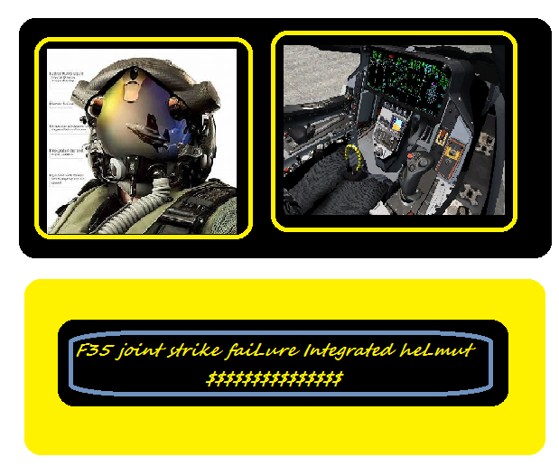 F35 Joint strike faiLure Integrated helmut $$$$$$$$$$$