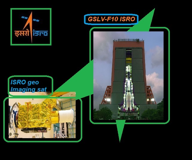 GSLV F10 ISRO geo Imaging sateLLite