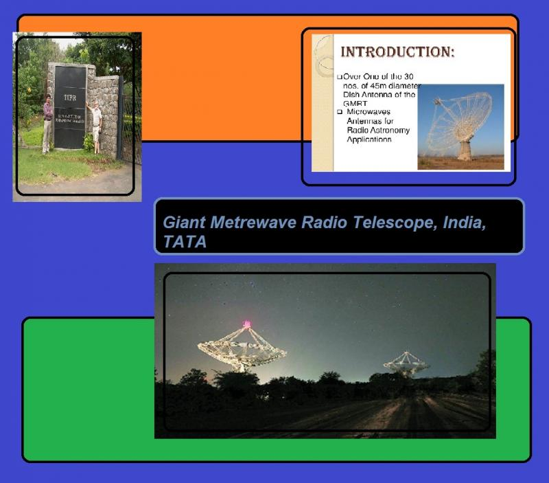 Giant Metrewave Radio Telescope in India tata