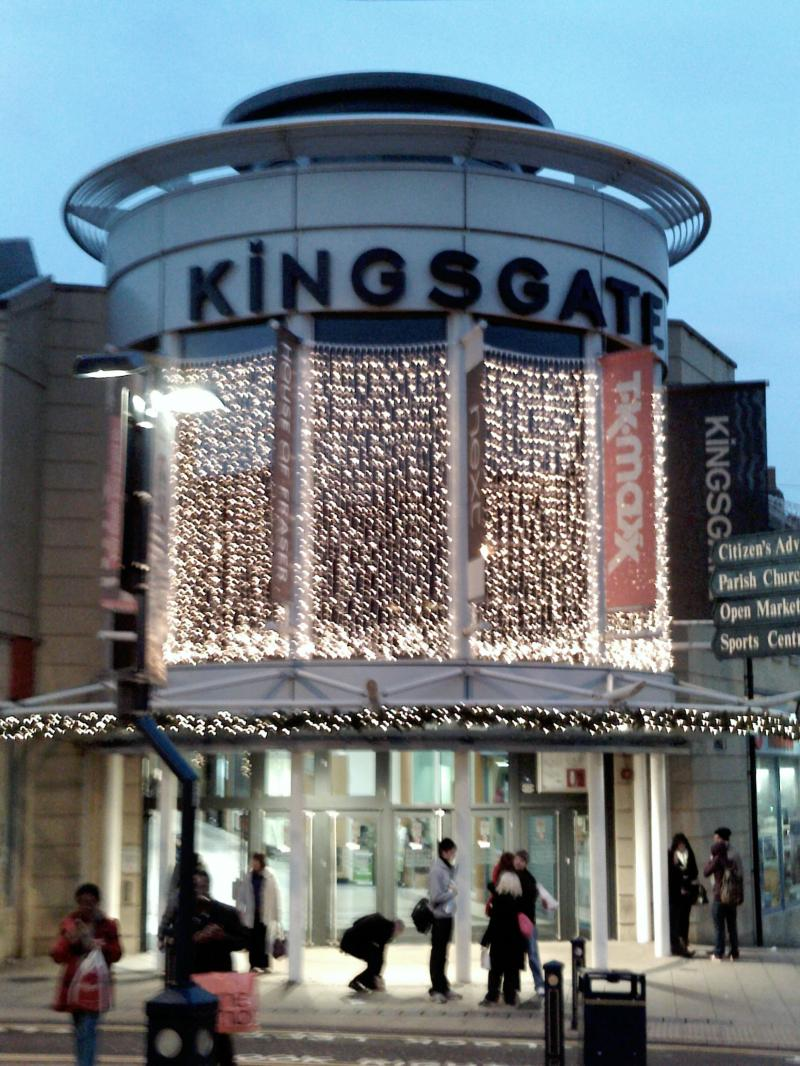 Kingsgate shopping centre entrance Huddersfield TKmaxx.jpg
