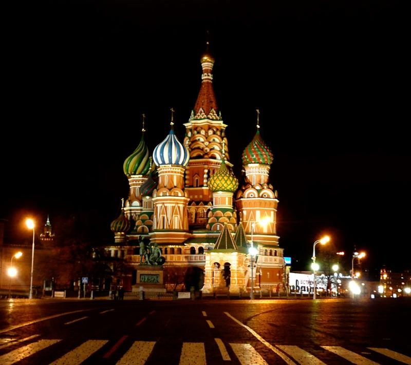 St. Basils Cathedral Russia Night