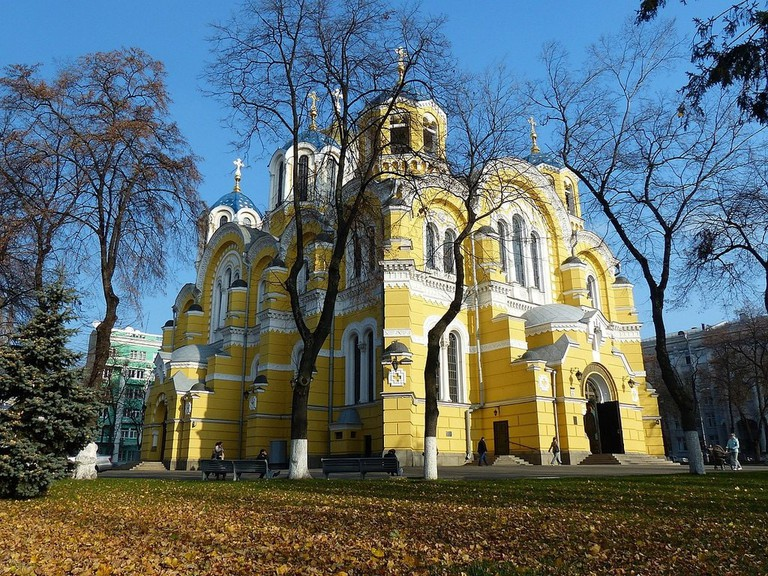 Ukrainian Orthodox Church St Volodymyr's Cathedral was built in 1882 The cathedral is an excellent representation of the Russian Neo Byzantine architecture