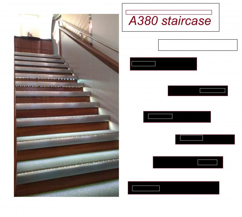 a380 staircase black brown