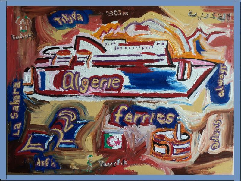 algeria ferries painting