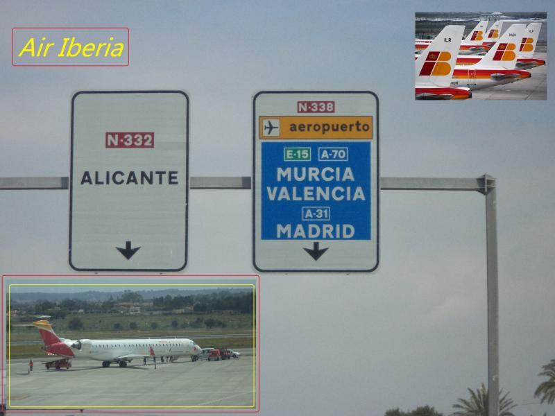 alicante airport sign iberia