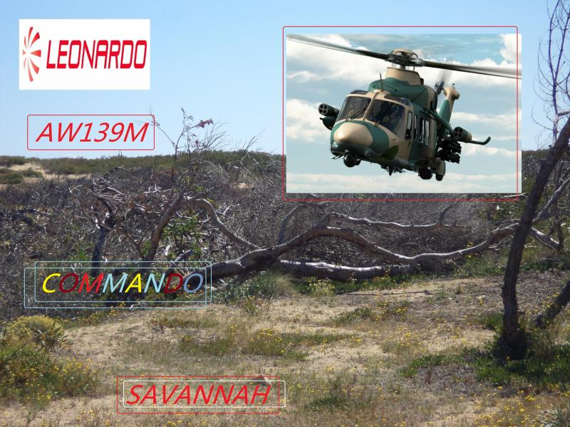 aw139m leonardo helicopter savannah commando