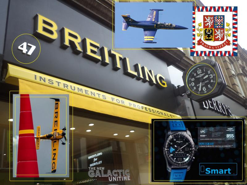 breitling clock display team