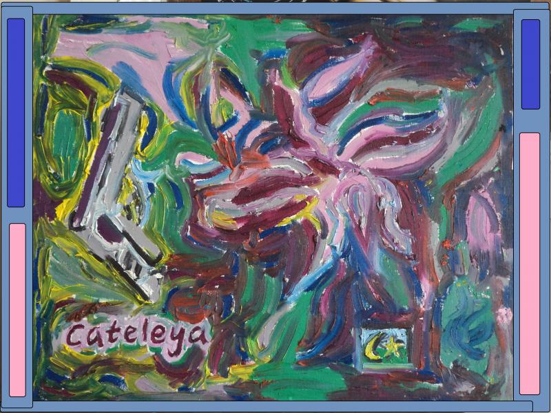 cateleya orchid painting 2