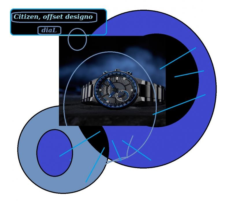 citizen offset dial watch designo 6