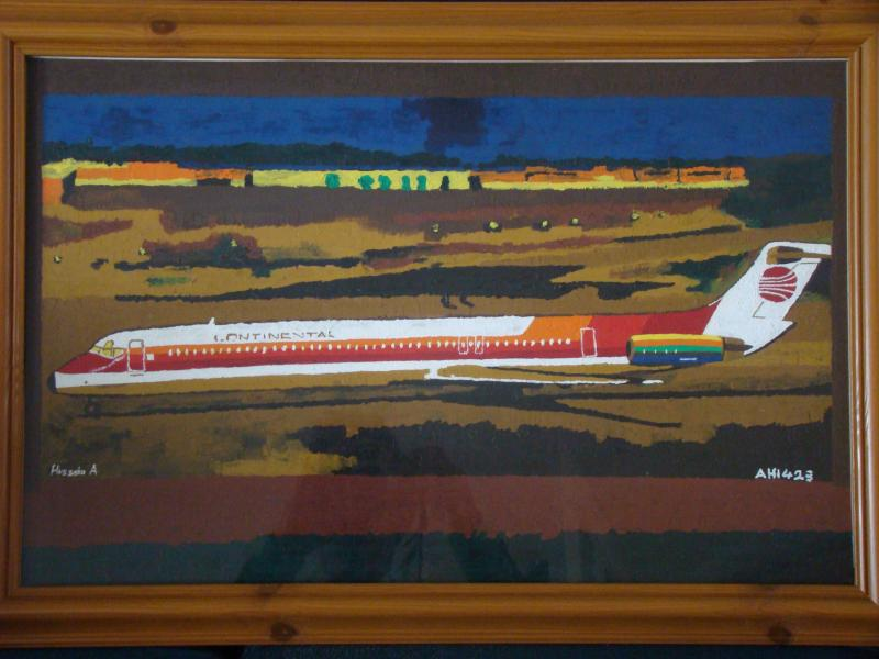 continental airlines, art