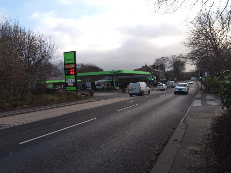 coop petrol station Ainley top