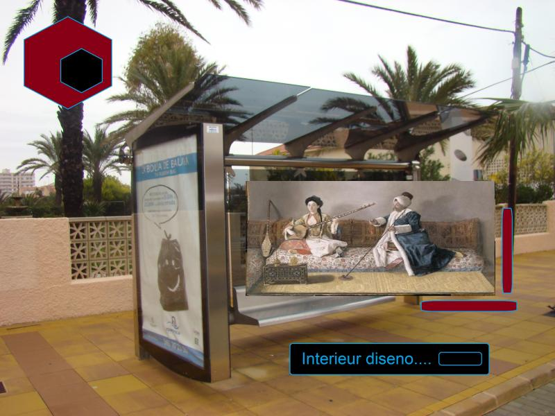 espana bus stop interior design