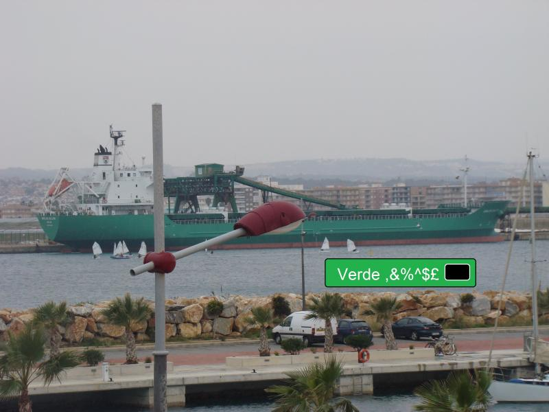 espana holiday green ship verde