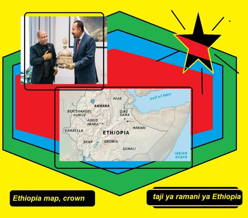 ethiopia map crown