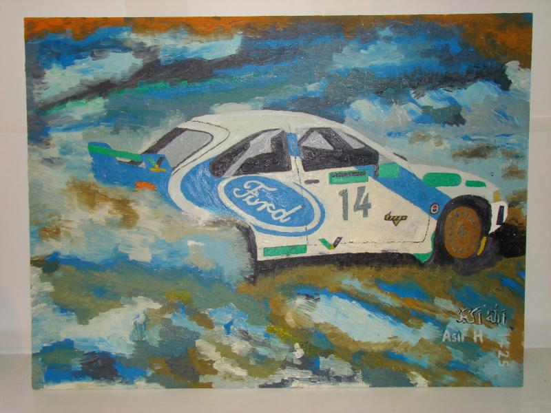 ford cosworth wrc, painting