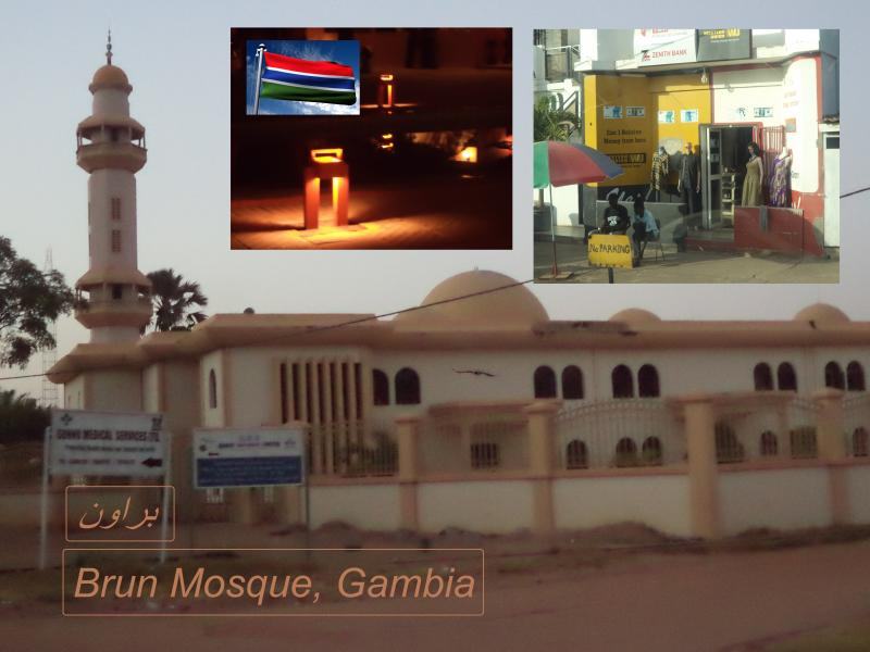 gambia mosque straight brown brun