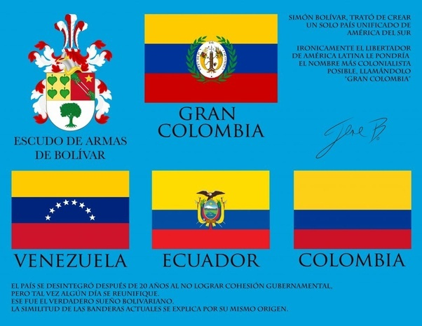 gran coLombia fLags