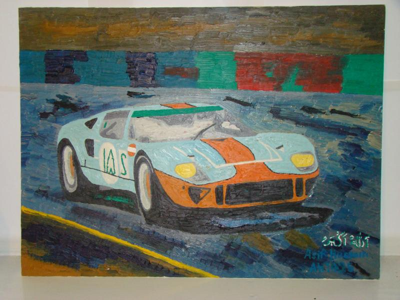 gulf ford gt40 painting, kooolcr