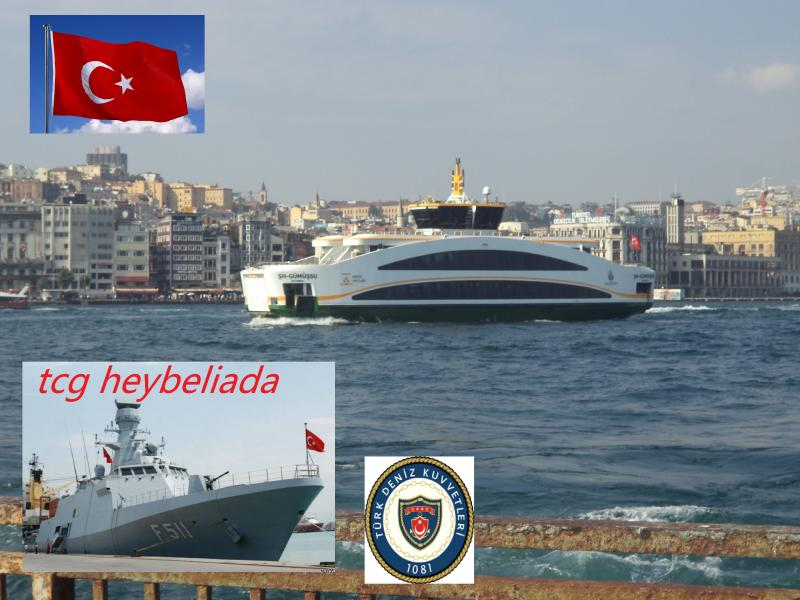 istanbul ferry straight turkish naval