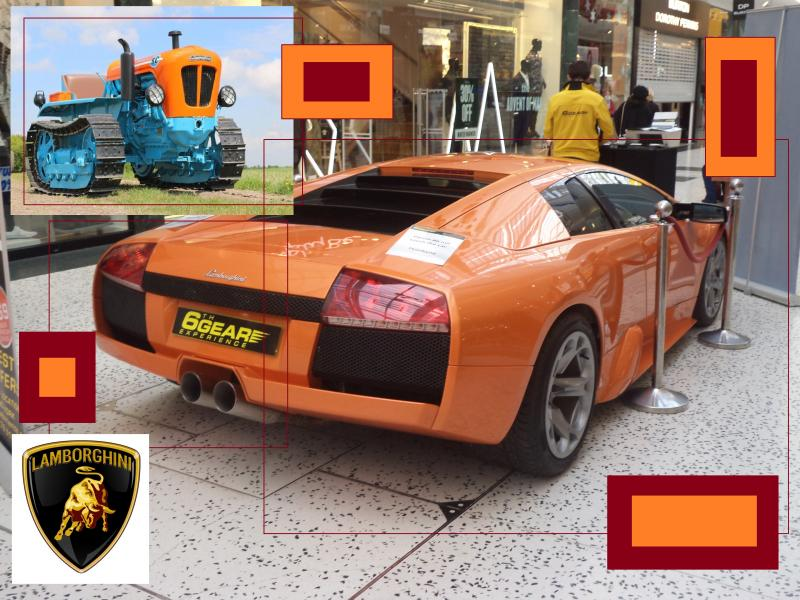 lamborghini orange rear 2 tractor