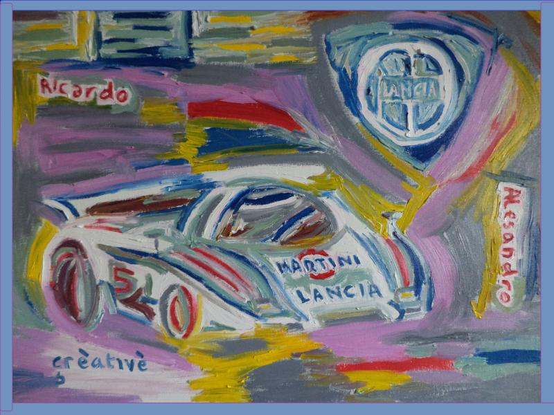 lancia lc2 le mans painting creative