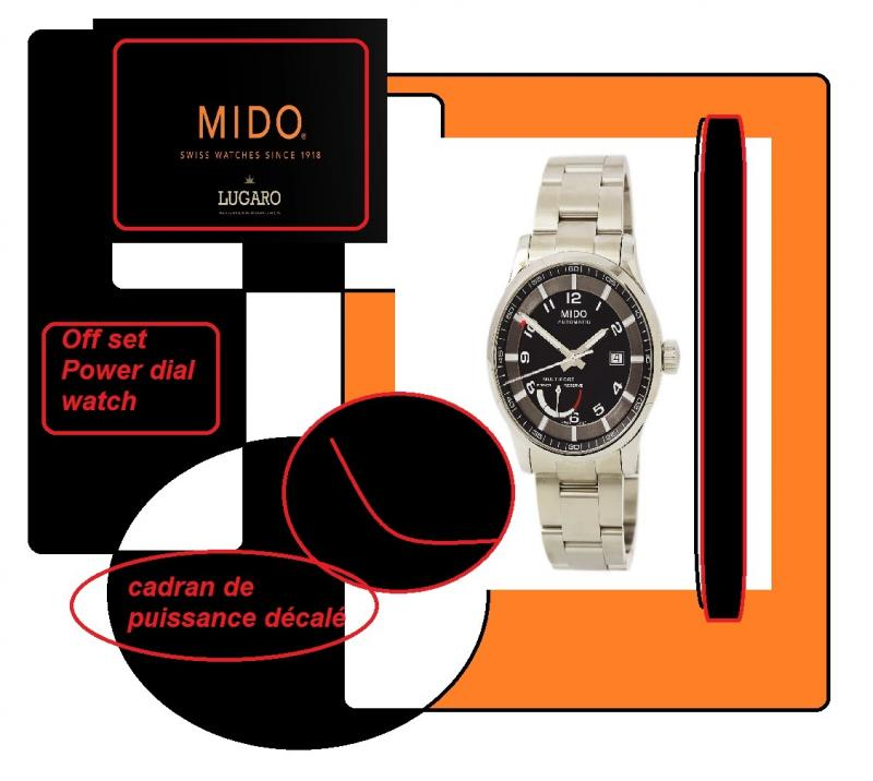 mido watches offset power dial watch