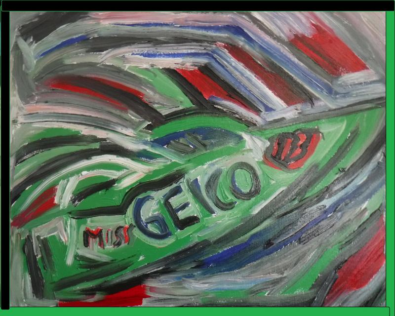 miss geico 113 painting
