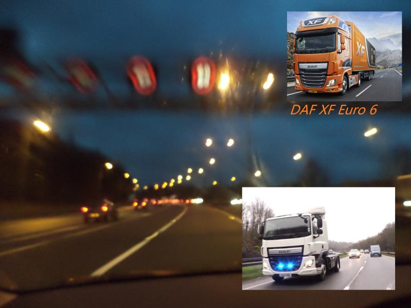 motorway lights straight daf xf euro 6