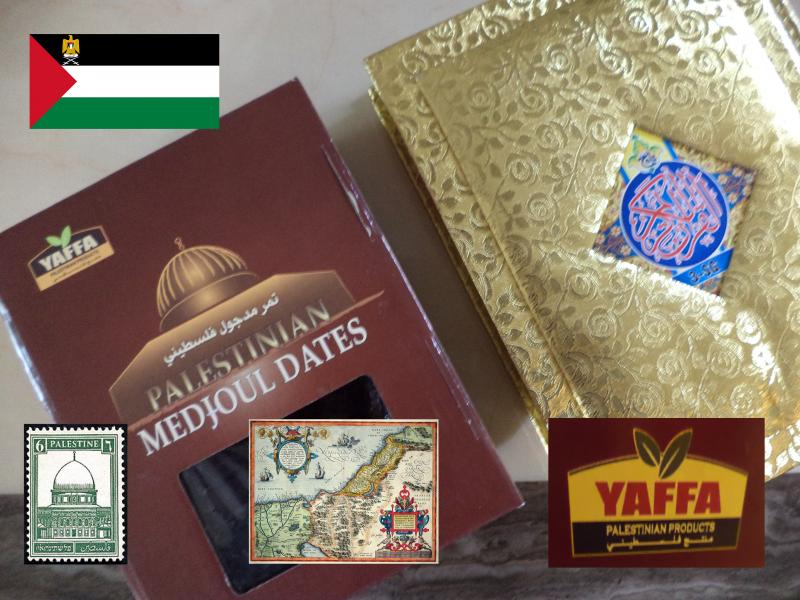palestine dates gold koran map yaffa
