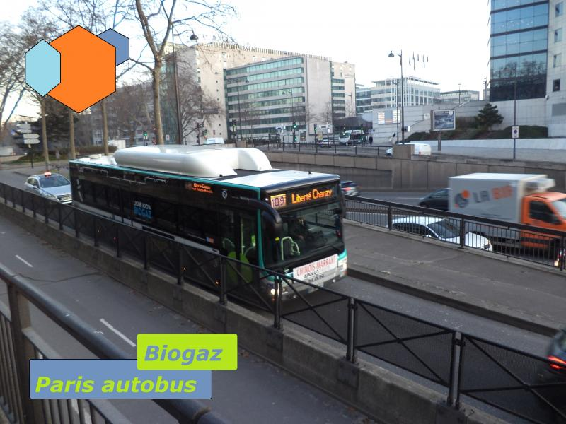 paris hybrid bus biogaz