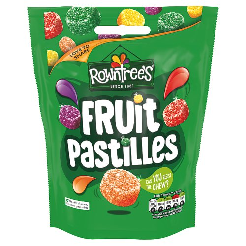 rowntrees fruit pastiLLes chewy fruity 120g pacKet