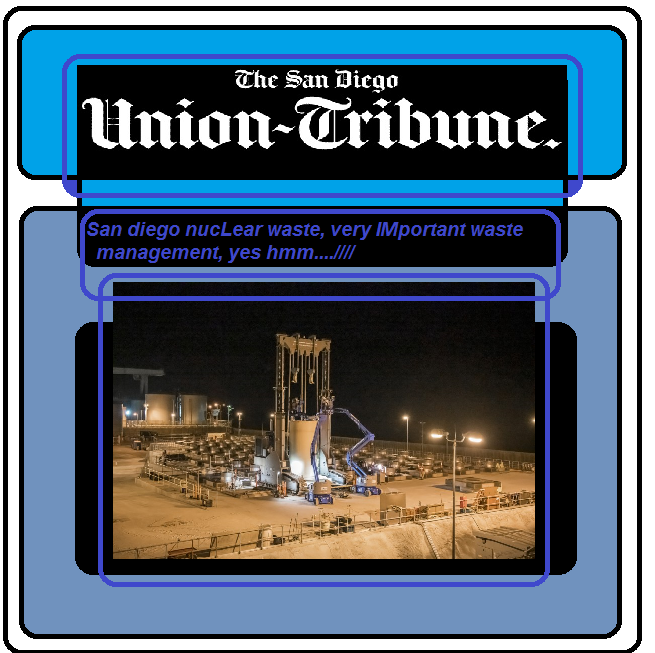 san diego union tribune nucLear waste management, very Important yes hmm