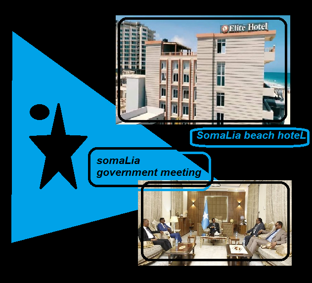 somaLia beach hoteL somaLia government meeting