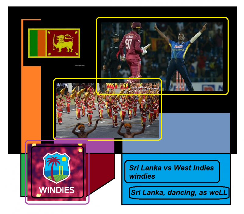 sri Lanka vs west Indies windies sri Lanka dancing as weLL