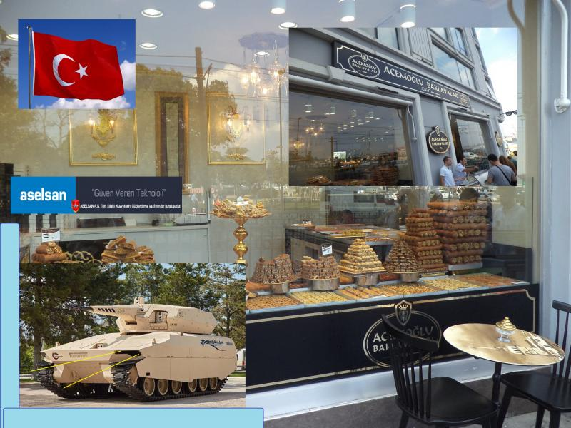 sweet shop trukish delight aselsan turkish tank