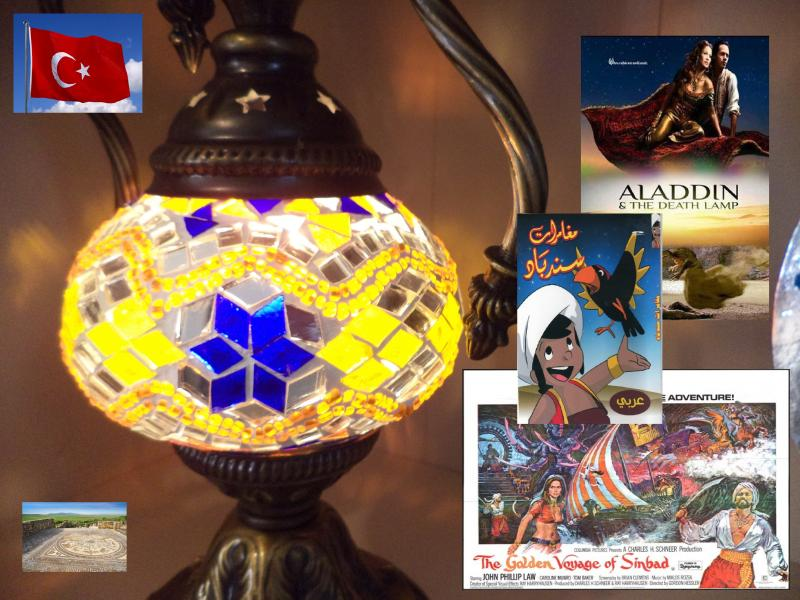 turkish lamp sindbad alladin