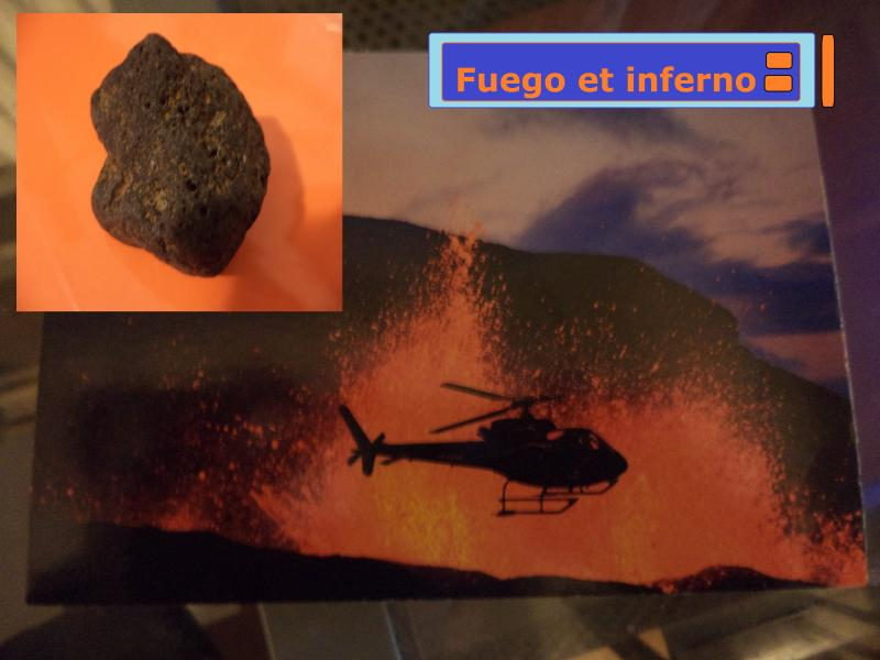 volcano postcard fire and hell