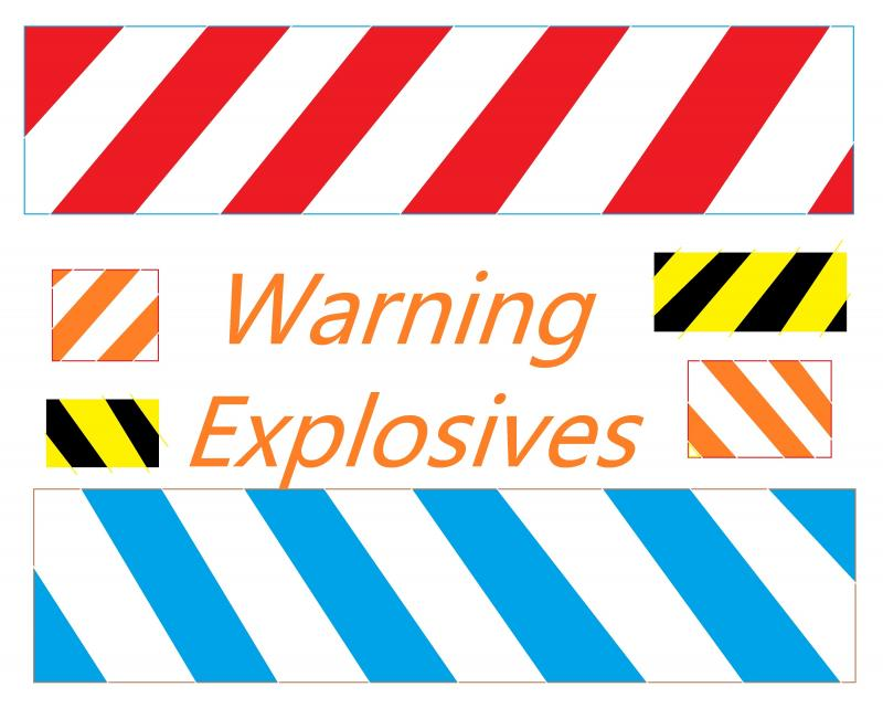 warning explosives