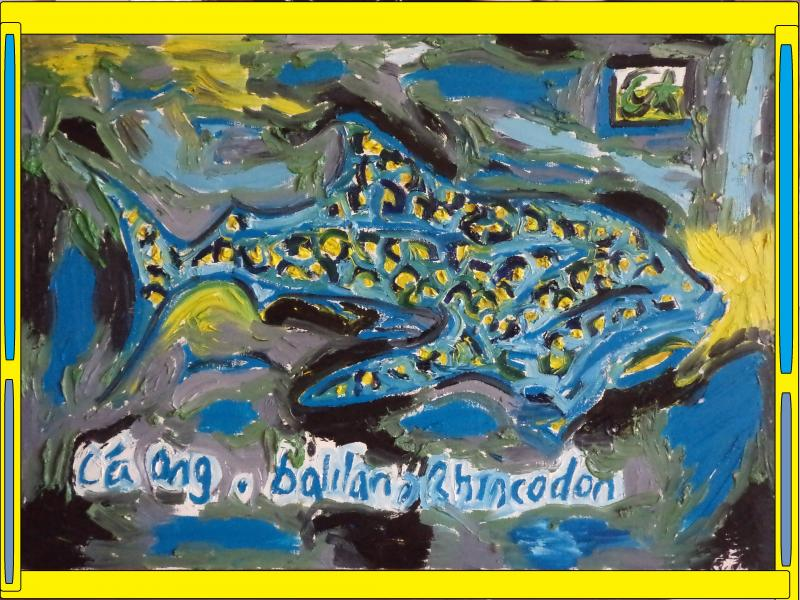 whale shark painting 2