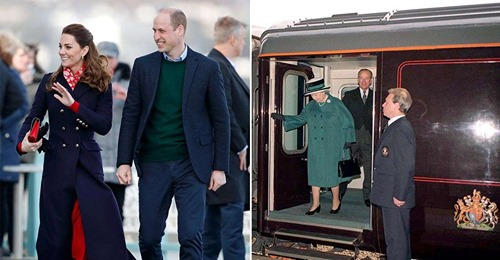 wiLLiam and Katherine on the queens train